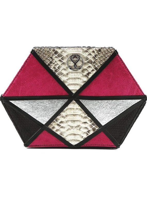 fuerte pink clutch house of sheens python leather