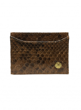 Cardholder Walnut Brown Python Leather House of Sheens
