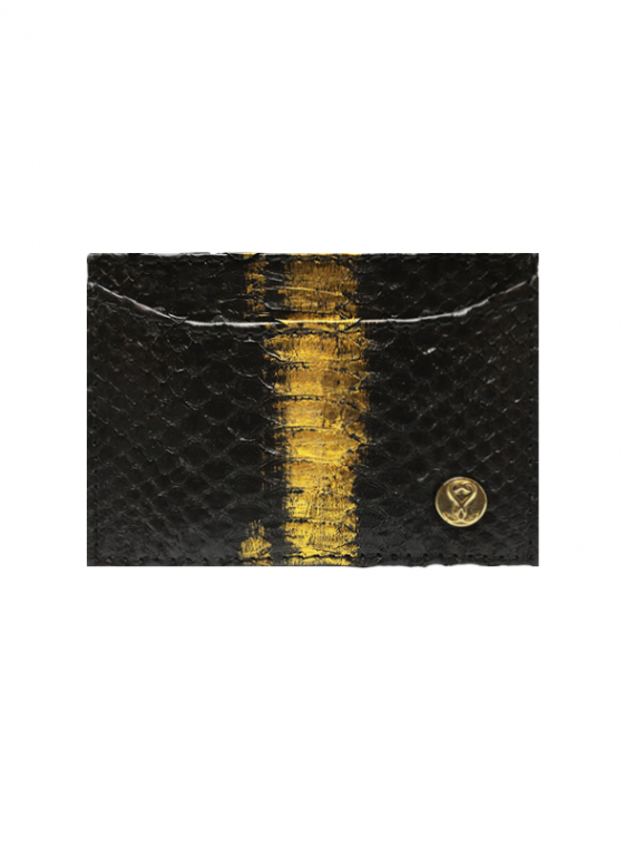 Cardholder Black and Gold