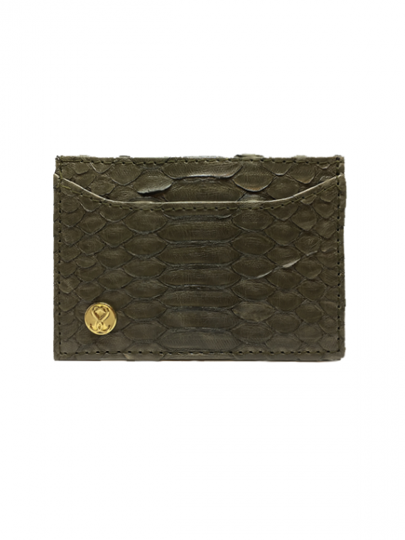 Cardholder Vintage Green Python Leather House of Sheens