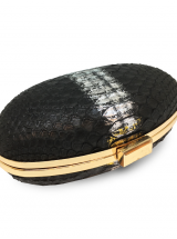Ava Black With Silver python leather house of sheens singapore