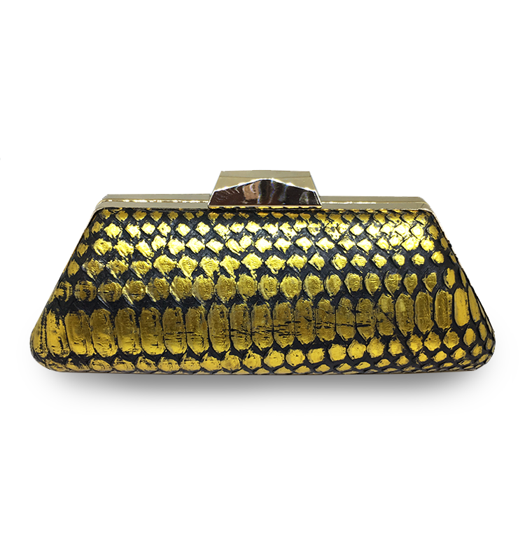 ava long black gold clutch python leather house of sheens