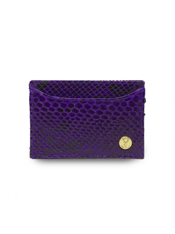 purple cardholder python leather house of sheens