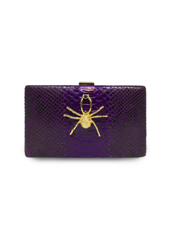 impavido clutch royal purple python leather house of sheens