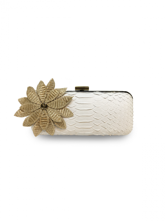 ava festive white flower clutch house of sheens python leather