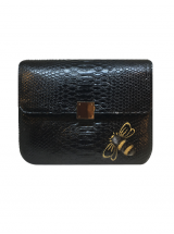 Bee WoW Large Black Python Leather House of Sheens