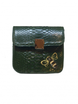 Bee WoW Mini Emerald Green Python Leather House of Sheens
