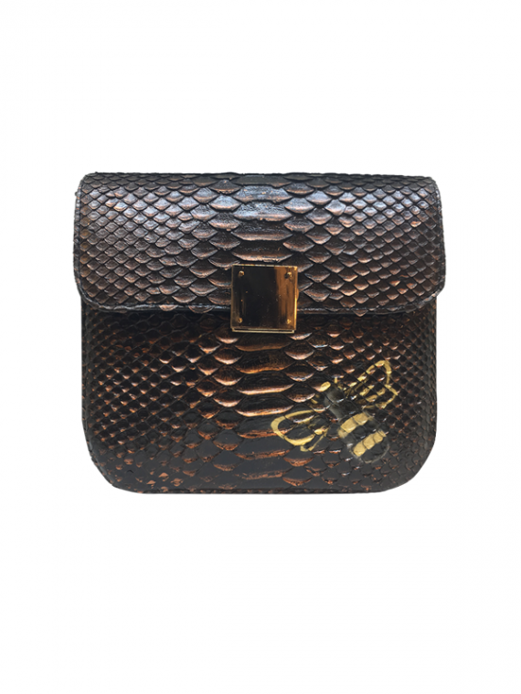 Bee-WoW-Mini-Copper-2 House of Sheens Python Leather
