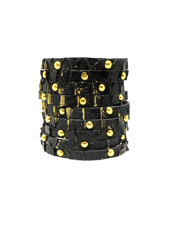 Black Gold Highlights Studded Cuff