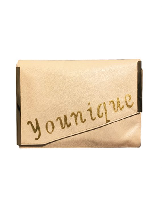 Younique calf leather clutch house of sheens