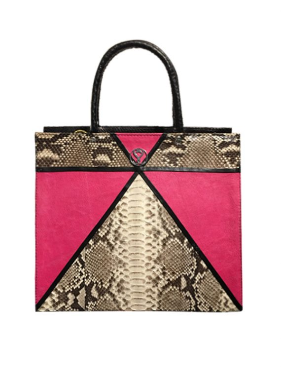 Fuerte Pink Tote python leather house of sheens