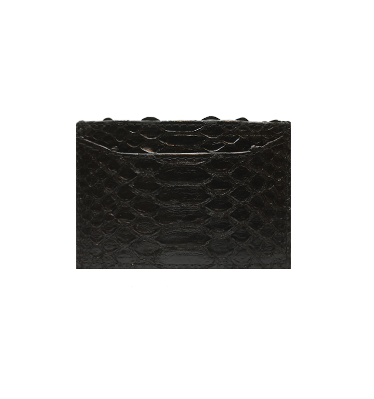 Cardholder Black Python Leather House of Sheens