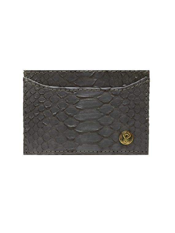 Cardholder Classic Grey Python Leather House of Sheens