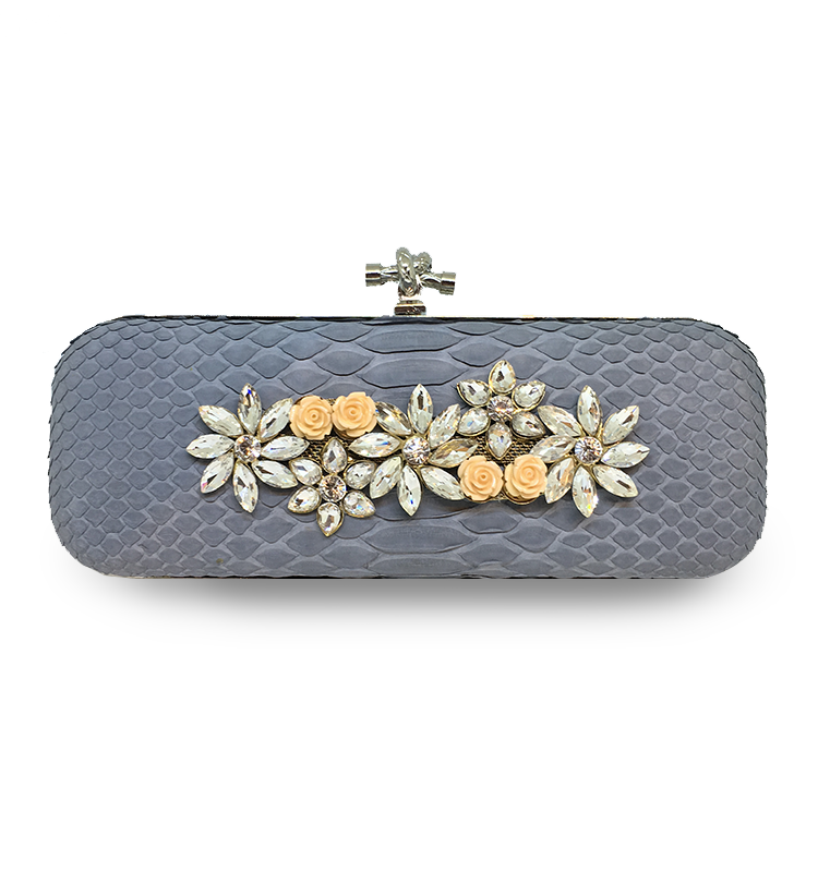 ava festive clutch house of sheens python leather singapore