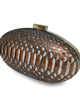 ava copper clutch python leather house of sheens