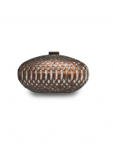 ava copper clutch house of sheens python leather