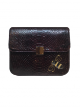 Bee WoW Large Deep Burgundy Python Leather House of Sheens
